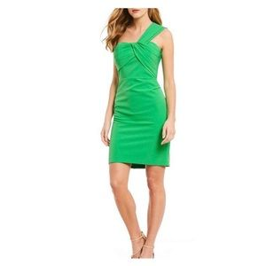 NEW Vince Camuto green one shoulder knee dress 14